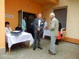Vítání hostů panem starostou Vladislavem Michalem